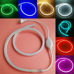 AC220V Super Bright 2835 LED Neon Tube Strip Light Rope Flexible Waterproof Sign