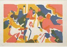 """KANDINSKY mounted vintage ltd ed original woodcut 14 x 11"""" 1913 (1975 ed.) KL1"""