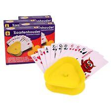 4x Kartenhalter aus Kunststoff Spielkartenhalter für Kinder und Senioren