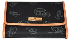 Sergio Tacchini Wallet Black Brown Delux All In One Verry Good Strong & Clean