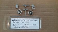 15mm Essex Miniatures British Colonials Egyptian Gatling Gun & Crew