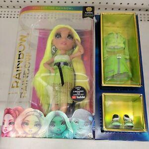 Rainbow High KARMA NICHOLS Wave 2 NEON GREEN Fashion Doll Brand New
