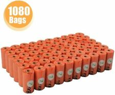 PET N PET Dog Poop Bags Pick up Pet Waste Bags 1080 Counts Orange 9*13 Inch