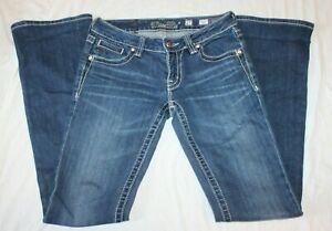 Miss Me Women's Denim Blue Jeans JP5074-2 Boot Sz. 27 Dark Wash Bling