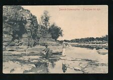 South Africa Germany Deutsch-Sudwestafrika Fischfluss Shooting Fish c1900s?PPC