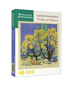 "Pomegranate  -  ""Gustave Baumann: Cholla and Sahuaro"" - 500 piece  Art Puzzle"