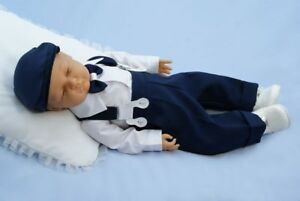 Baby Boy Formal Pageboy Outfit Little Gentleman Braces White Shirt Hat 0-18M