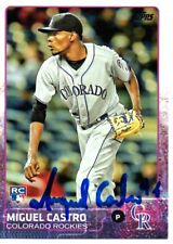 Miguel Castro Colorado Rockies 2015 Topps Update Signed Card