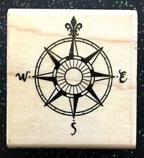 """Vintage Rubber Stamp """"True North Awaits!"""" by Stampabilities 1 3/4 x 1 3/4"""""""