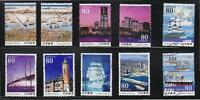 JAPAN 2009 150TH  ANNIV. PORT OPENING YOKOHAMA COMPLETE SET OF 10 STAMPS IN USED