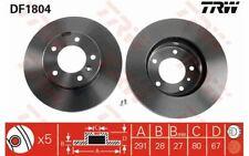 2x TRW Disques de Frein Avant Ventilé 291mm pour JAGUAR XJ DF1804 - Mister Auto