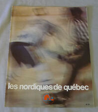 1977-78 WHA Quebec Nordiques vs Winnipeg Jets Hockey Program