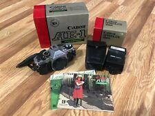Canon AE-1 Program SLR 35mm Film Camera BODY ONLY /w Speedlite 188A Flash