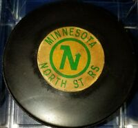 Vintage NHL Converse Art Ross Minnesota North Stars Hockey Puck CCM USA OLD GAME