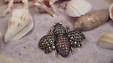 Kirk's Folly Rhinestone Pave AB Bee Brooch