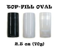 Empty Deodorant Containers - Twist-up, Recyclable, DIY Empty TOP-Fill OVAL