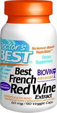 Best French Red Wine Extract, 60mg, 90 veggie caps, Doctor's Best