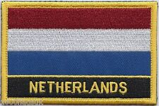 Netherlands Flag Embroidered Patch Badge - Sew or Iron on