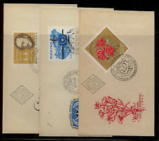 Hungary  3  cachet  covers  with  imperforate stamps       K L0904