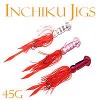 3x 45g Squid Inchiku Jig Micro Octo Jigs Fishing Lure Jigging Lead Snapper 2