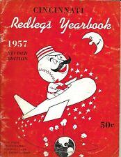 1957 Cincinnati Reds Yearbook Robinson Klu Bell Post NICE!!