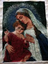 A Completed DIY Cross Stitch Kit- Mary The Mother Of God And Her Son Jesus