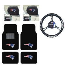 NFL New England Patriots Car Truck Floor Mats Steering Wheel Headrest Covers Set