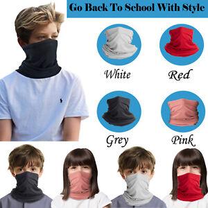 Kids Children Boys & Girls Face Mask Balaclava Washable Breathable Reusable UK