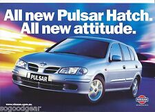 NISSAN PULSAR HATCH SINGLE PAGE DOUBLE SIDED SALES BROCHURE [VS]