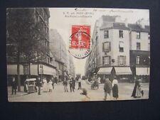CPA  -  75  -  PARIS ( 18° arrondissement ) -  Rue Riquet , coin Chapelle - 1908