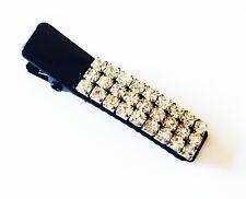 USA Using Swarovski Crystal Gem Hair Clip Pin Claw MINI Accessory Clear Metal