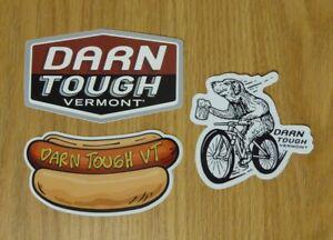 Set of 3 Darn Tough Vermont Stickers Decals