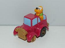 "1988 Pluto Pluto's Rumble 00006000 r 2"" McDonalds #4 Pull-Back Car Birthdayland Disney"