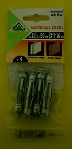 Metal Cavity Wall Anchors M5 x 50mm (4 in a Pack)