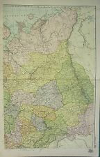 1912 LARGE ANTIQUE MAP ~ RUSSIA NORTH EAST ~