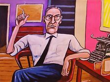 WILLIAM S. BURROUGHS PAINTING naked lunch beat generation junky queer wild boys
