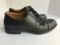 FLORSHEIM Comfortech Mens Size 8.5 D Cap Toe Oxford Shoe Black Leather Ortholite
