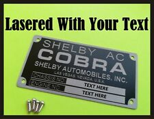Car  VIN Plate Identification Tag for Shelby Cobra + Rivets + YOUR OWN TEXT