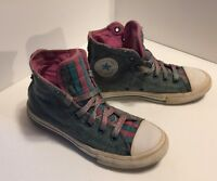 Converse Chuck Taylor All Star High Top Fade Blue Denim youth Size 2 Sneakers