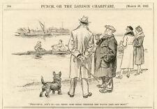 SCOTTISH TERRIER ANTIQUE VINTAGE DOG ART PRINT CARTOON - William Leigh Ridgewell