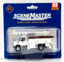 HO Scale Walthers SceneMaster 949-11734 International 4300 Utility Truck w/Drill