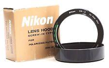 Genuine Nikon HN-12 Screw-In Lens Hood for Polarizing POLAR HN12 HN 12 Japan OEM