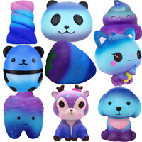 Kawaii Galaxy Deer Cream Scented Press Slow Rising Soft Strap Kids Mini Toy Gift