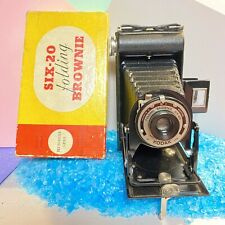 Vintage Kodak Six-20 Folding Brownie Meniscus Lens - Boxed VGC Working Lomo