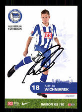 Artur Wichniarek Autogrammkarte Hertha BSC Berlin 2009-10 Original Sign+A 142379