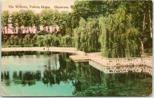 "Oscawana, New York Hand-Colored Postcard ""The Willows, Valeria Home"" 1931 Cancel"