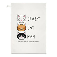 Crazy Cat Uomo asciugamani Dish Cloth-gattino Funny