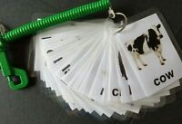 Children's animal flash cards learning new