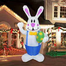 190cm Large Inflatable Easter Bunny Rabbit Outdoor Lawn Garden Decorations