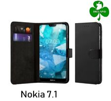 For Nokia 7.1 Wallet Leather Case Flip Book Cover Pouch with Card Pocket